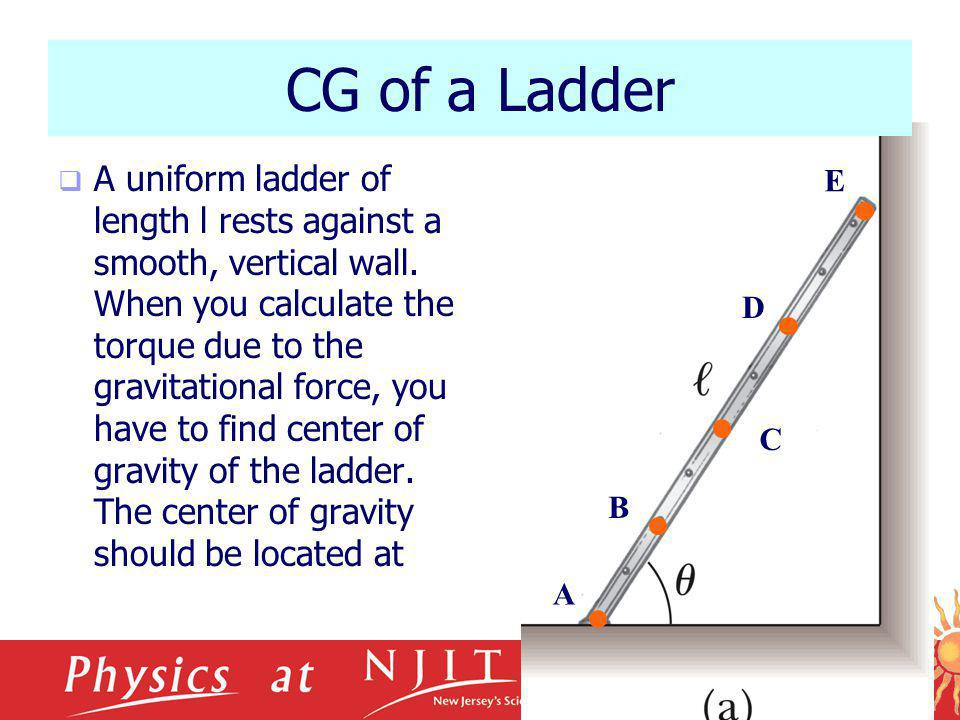 CG of a Ladder