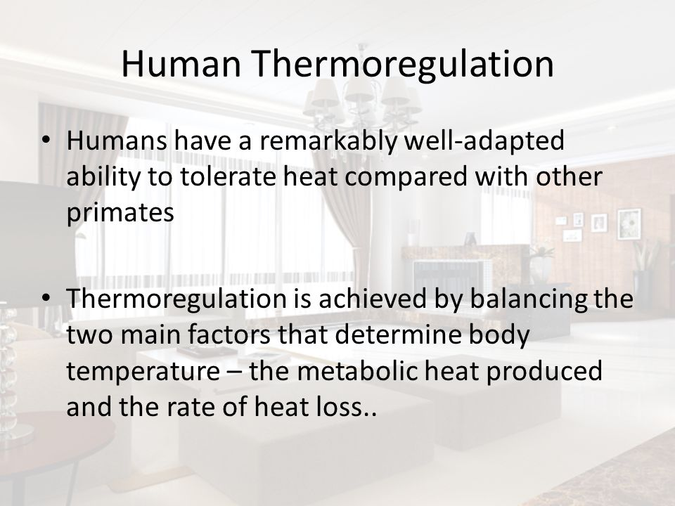 Human Thermoregulation