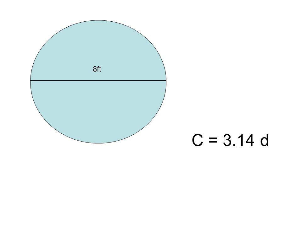 8ft C = 3.14 d