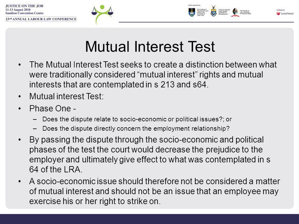 Mutual Interest Test
