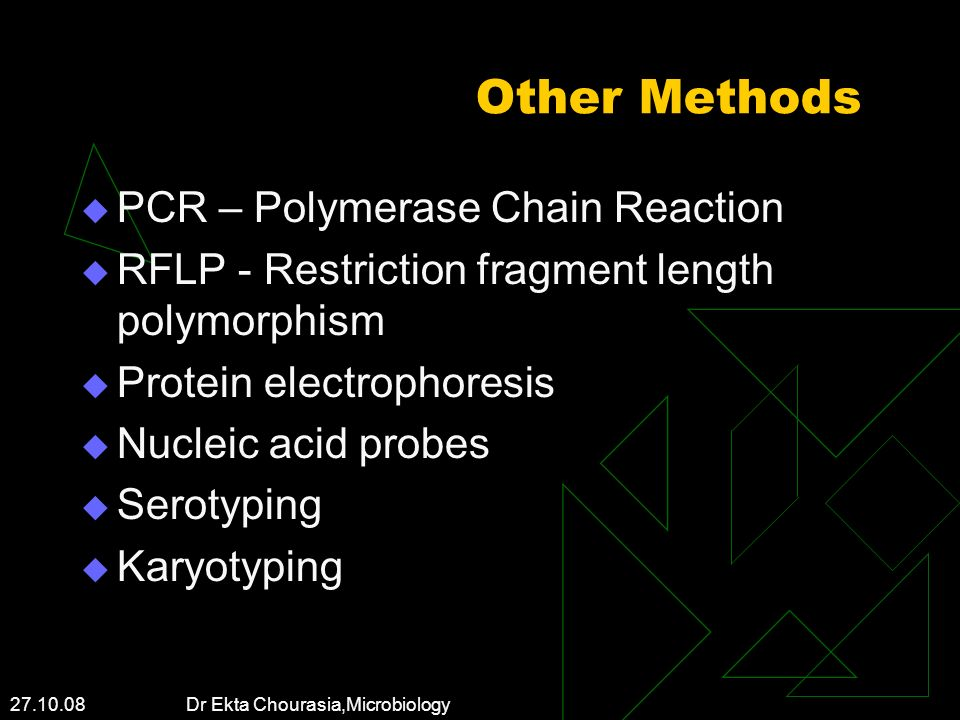 Other Methods PCR – Polymerase Chain Reaction