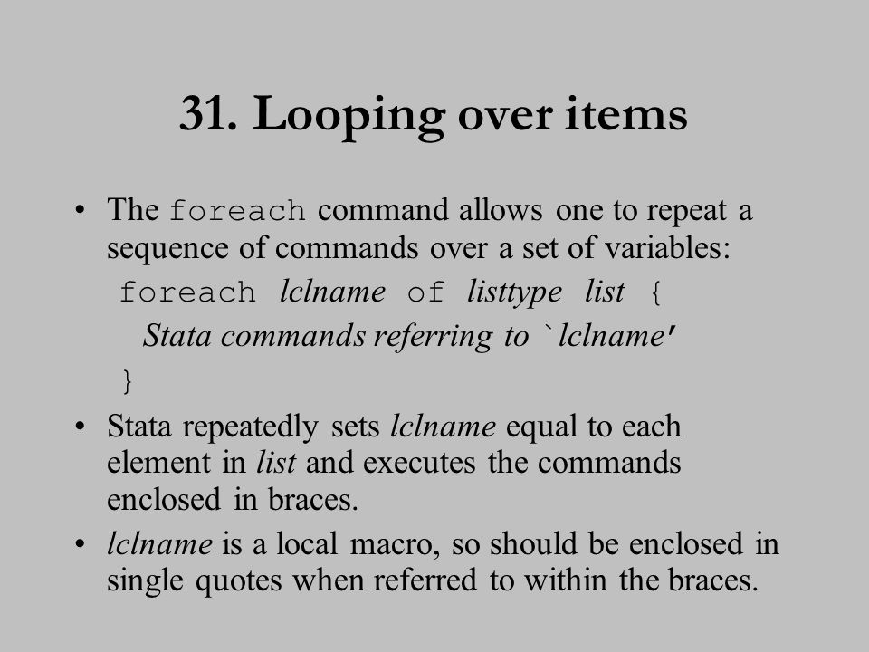32. Looping over items (cont.)