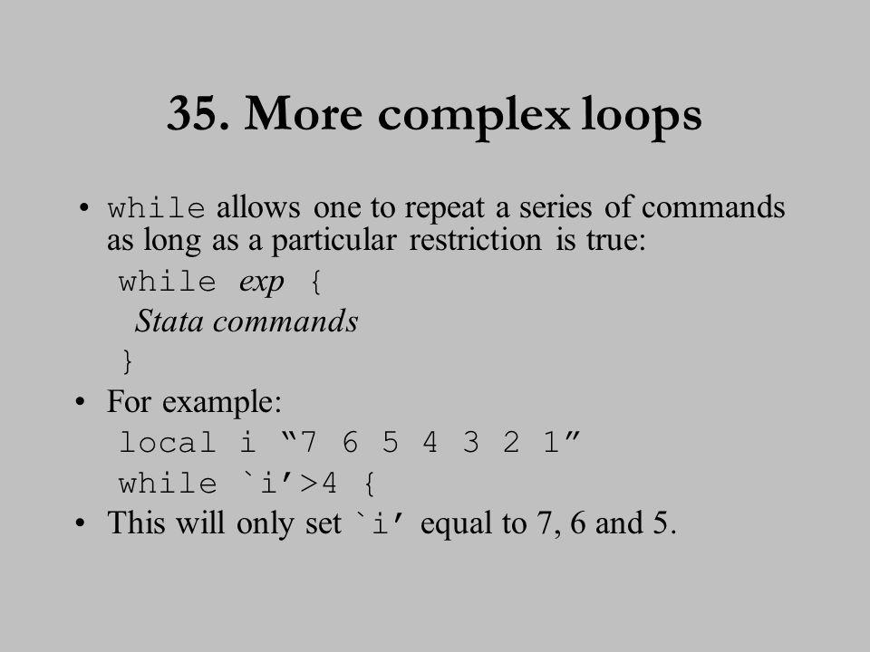 36. More complex loops (cont.)