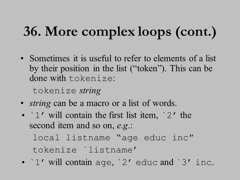 37. More complex loops (cont.)
