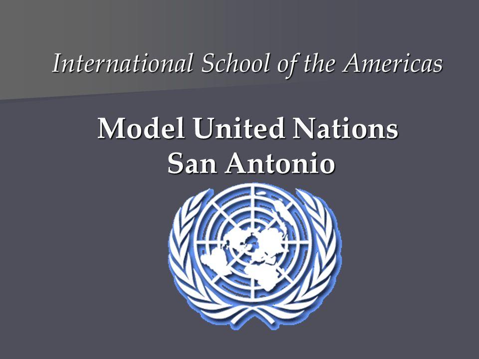 International School of the Americas Model United Nations San Antonio