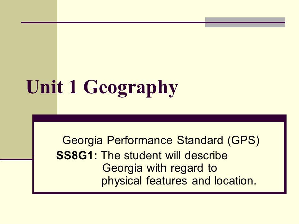 Georgia Performance Standard (GPS)