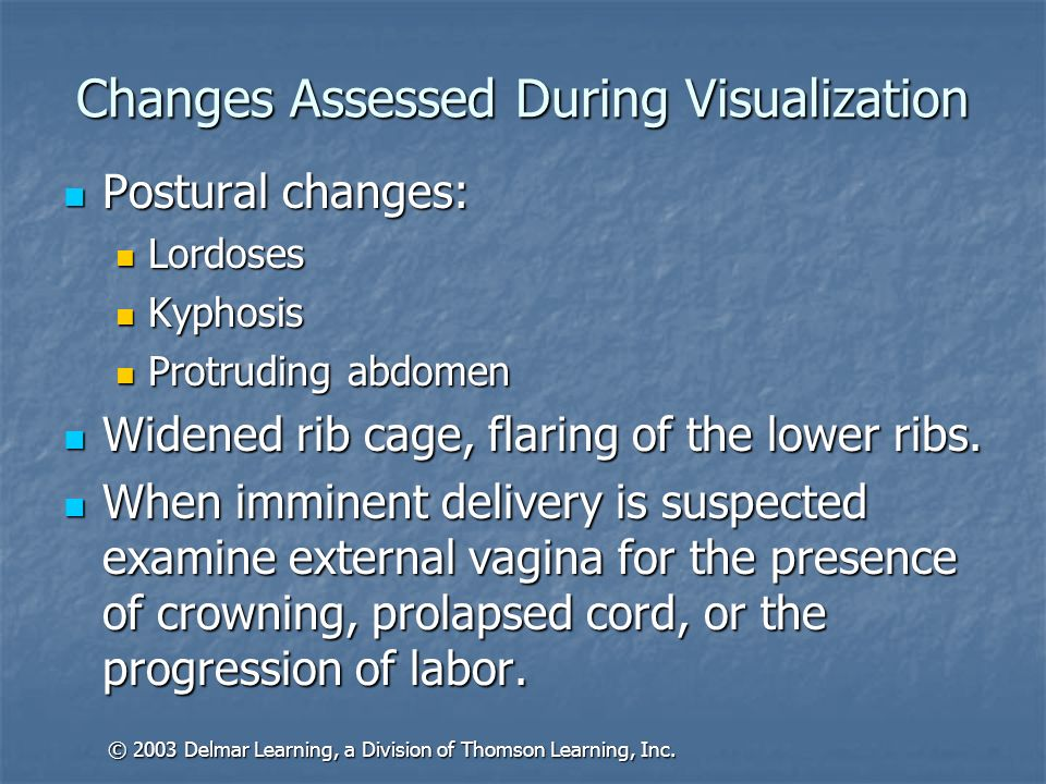 Changes Assessed During Visualization