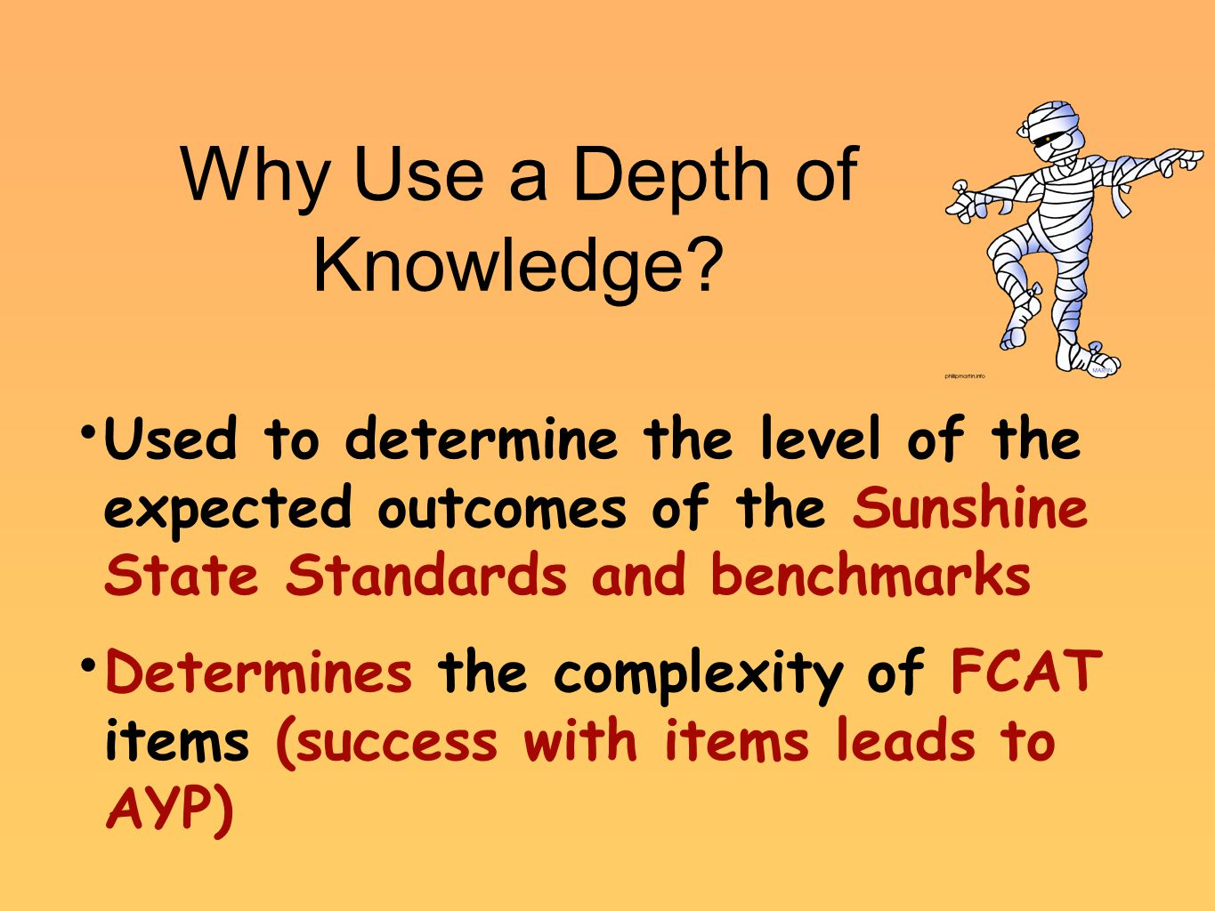 Why Use a Depth of Knowledge