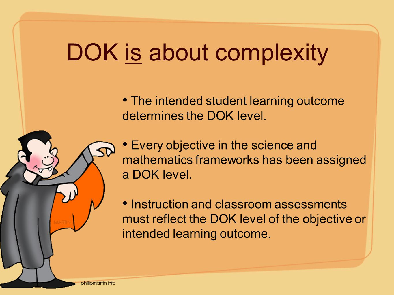 DOK is about complexity