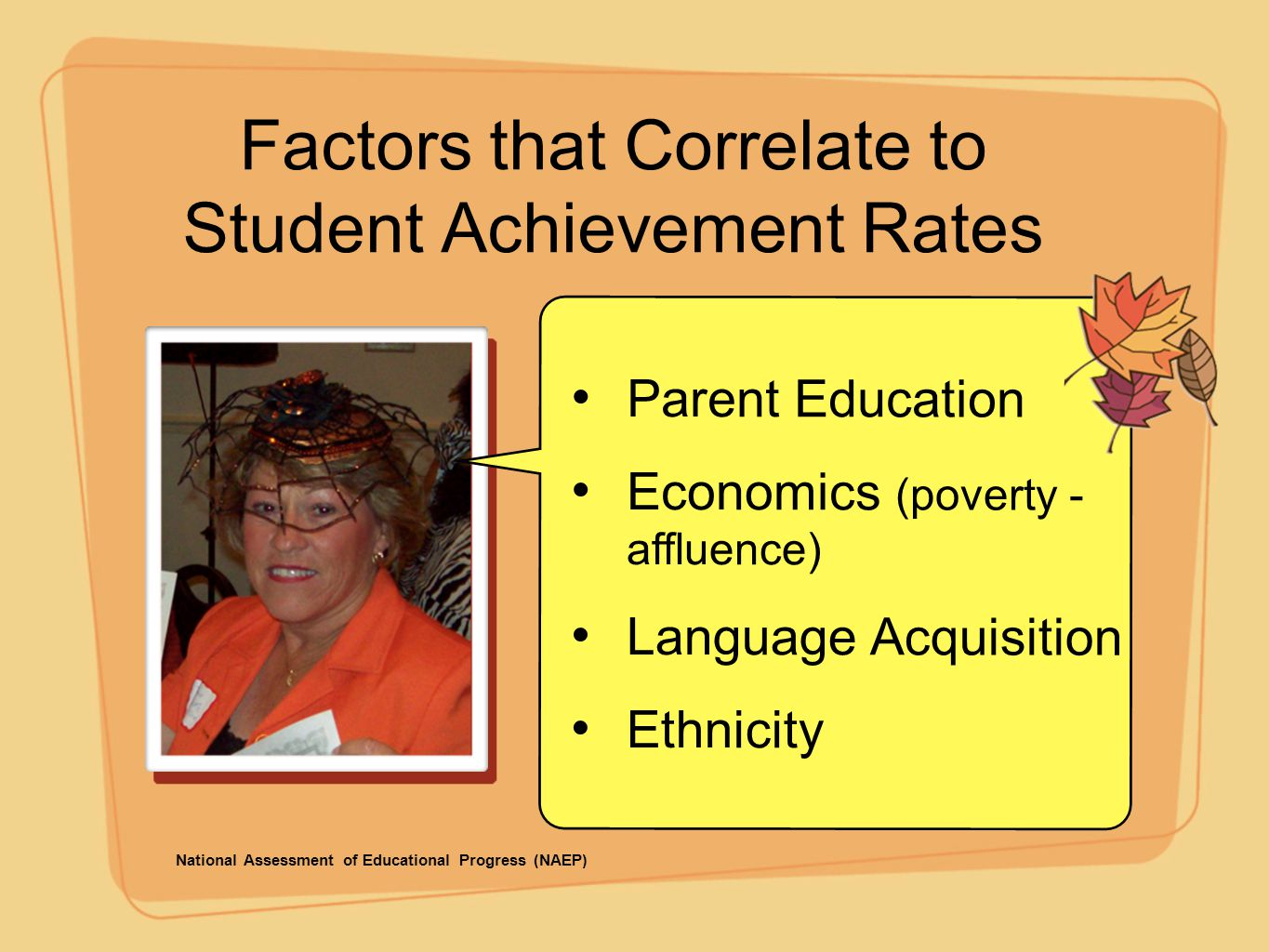 Factors that Correlate to Student Achievement Rates