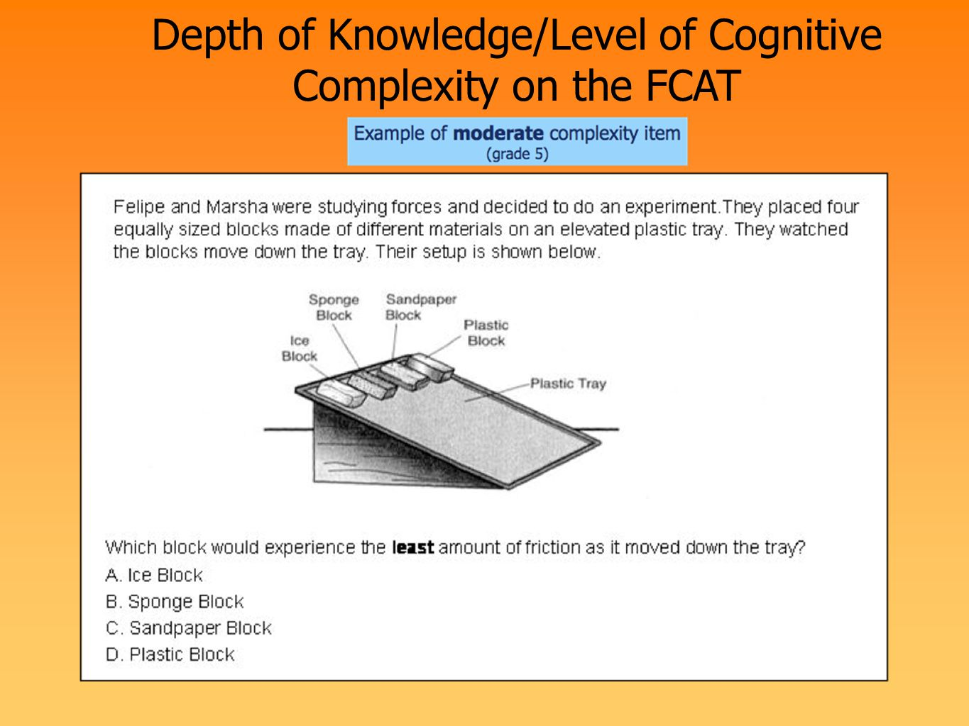 Depth of Knowledge/Level of Cognitive