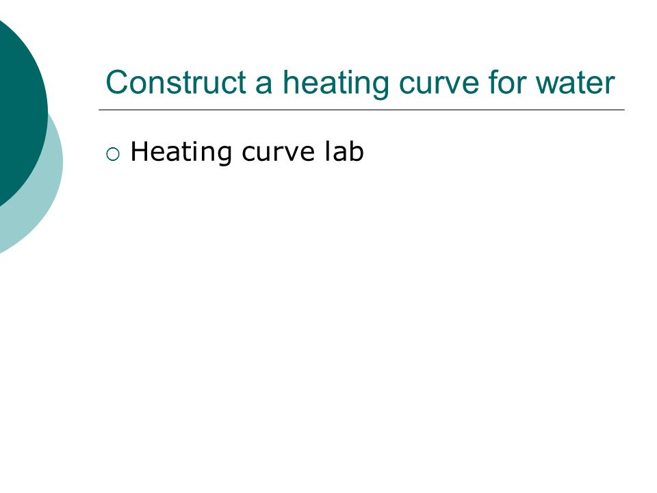Construct a heating curve for water