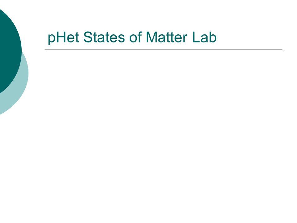 pHet States of Matter Lab