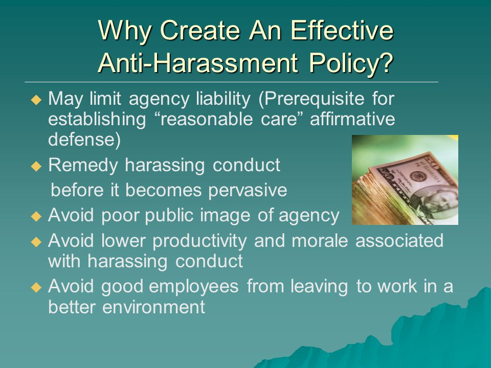 Why Create An Effective Anti-Harassment Policy