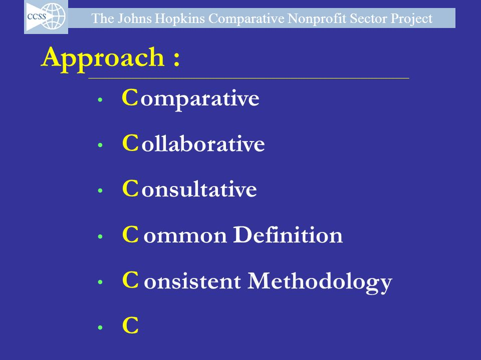 Approach : omparative ollaborative onsultative ommon Definition