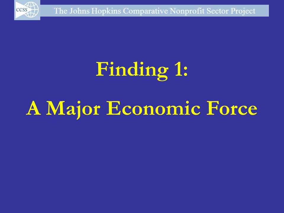 Finding 1: A Major Economic Force