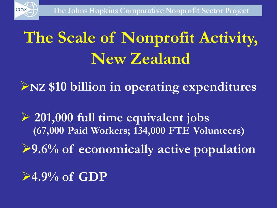 The Scale of Nonprofit Activity,