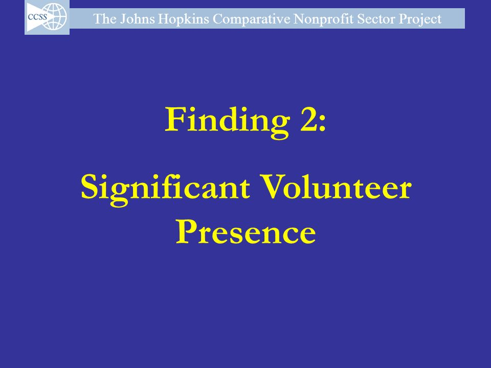 Significant Volunteer Presence