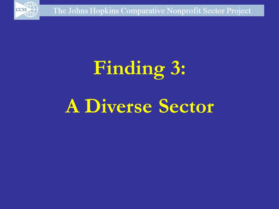 Finding 3: A Diverse Sector