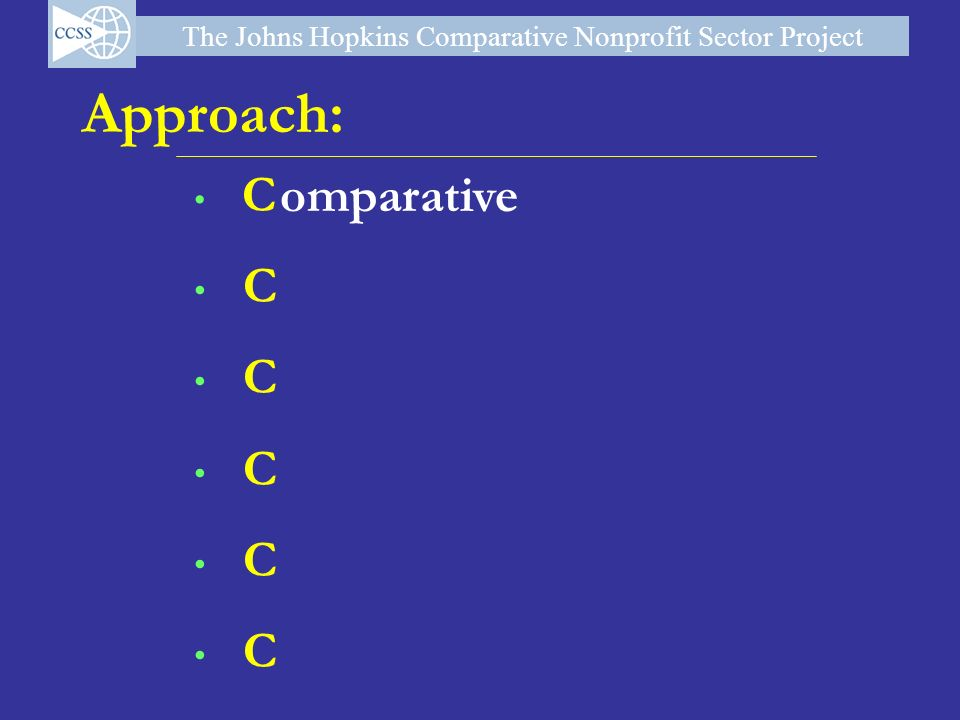 Approach: omparative C 4