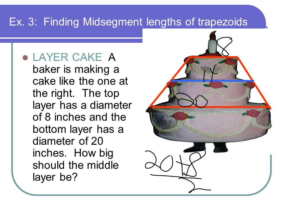 Ex. 3: Finding Midsegment lengths of trapezoids