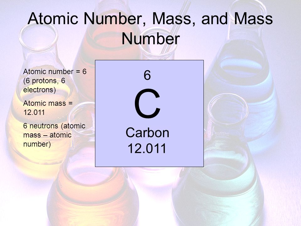 Atomic Number, Mass, and Mass Number