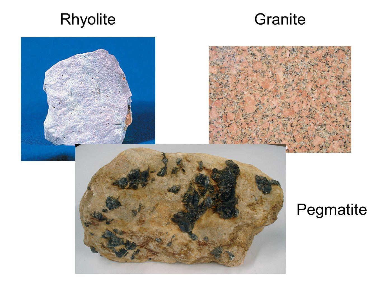 Rhyolite Granite Pegmatite