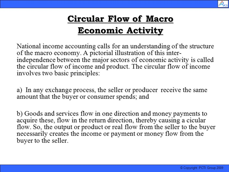 Circular Flow of Macro Economic Activity