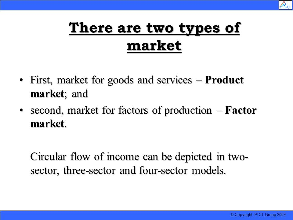 There are two types of market