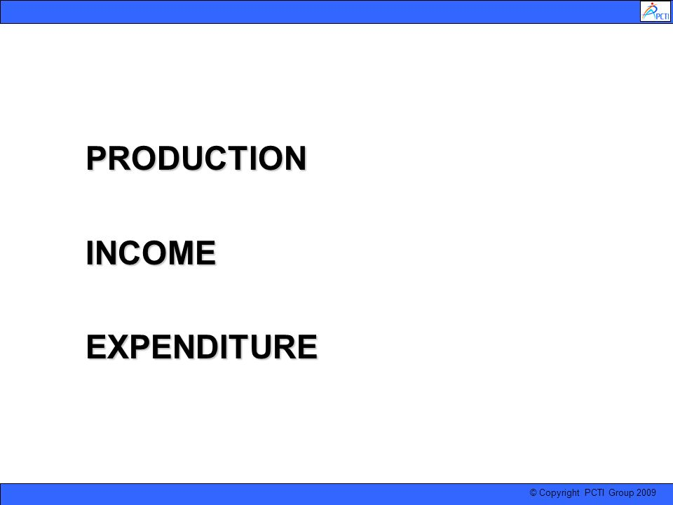 PRODUCTION INCOME EXPENDITURE