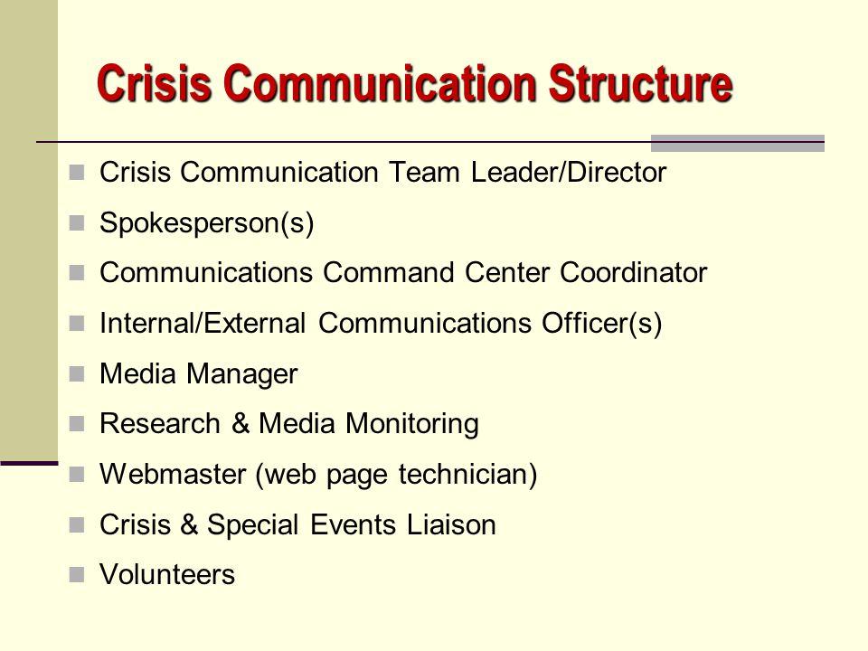 Crisis Communication Structure