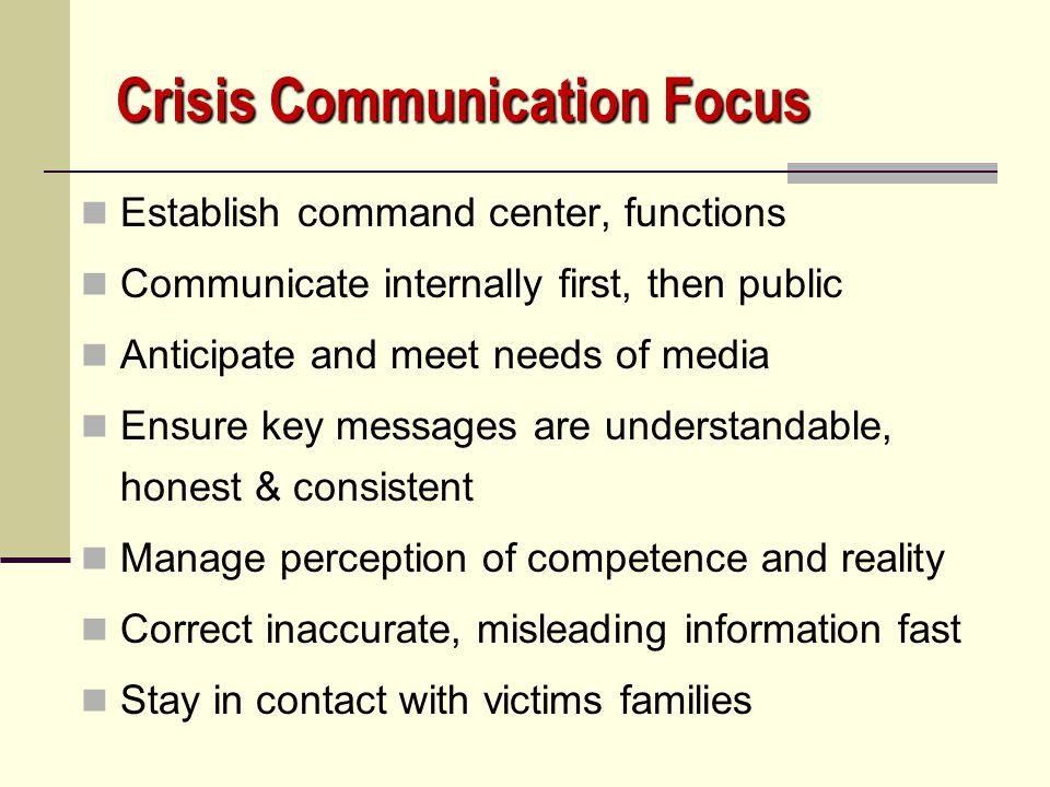 Crisis Communication Focus