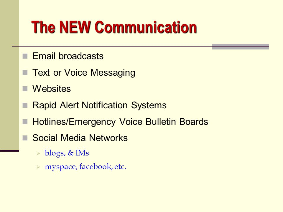 The NEW Communication Email broadcasts Text or Voice Messaging