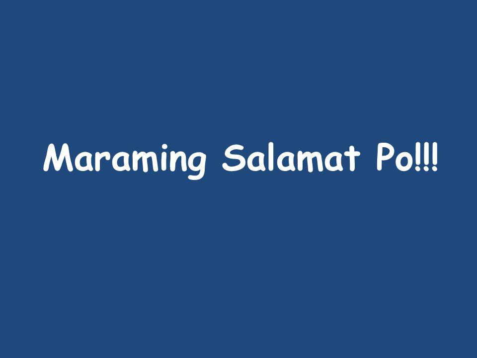 Maraming Salamat Po!!!