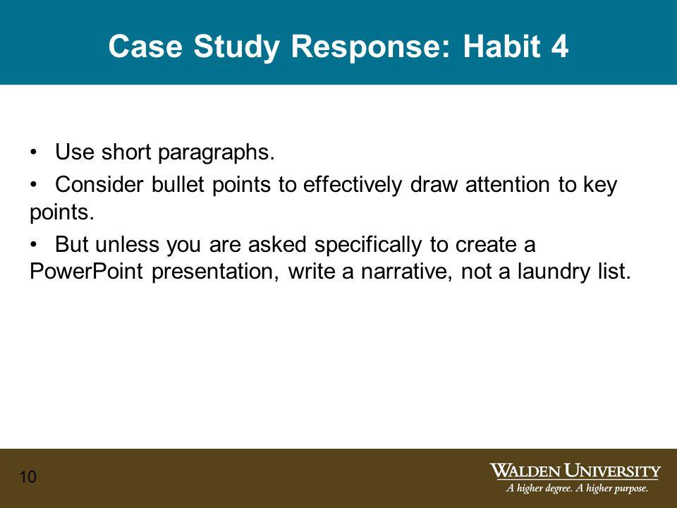 Case Study Response: Habit 4