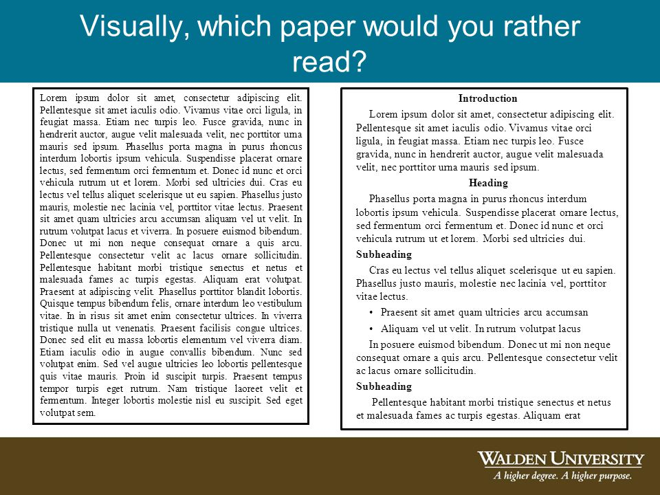 Visually, which paper would you rather read