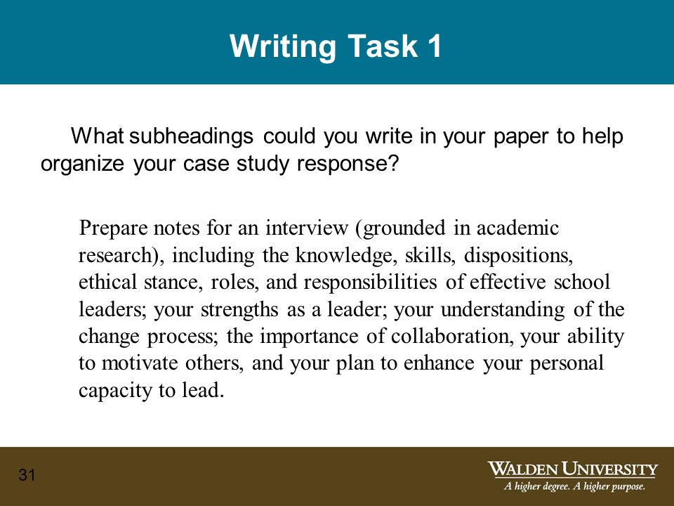 how to write nursing case study