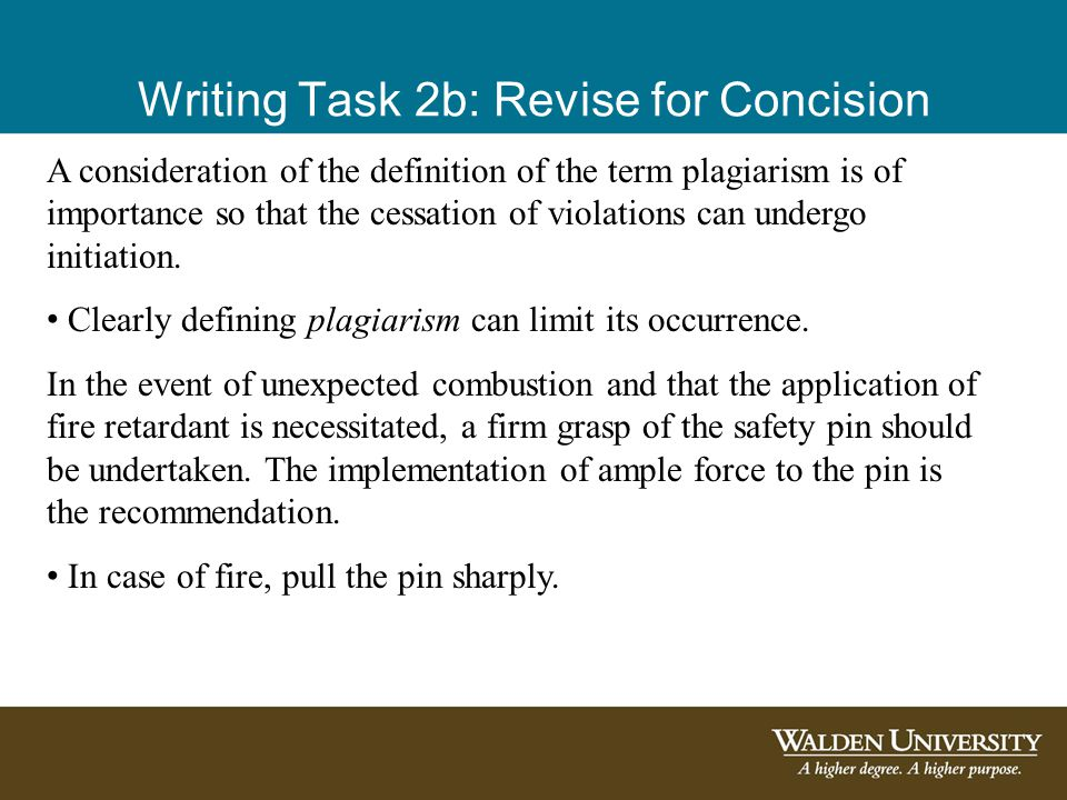 Writing Task 2b: Revise for Concision