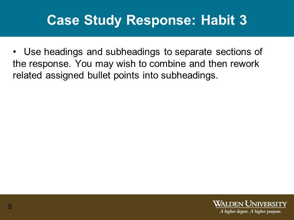 Case Study Response: Habit 3