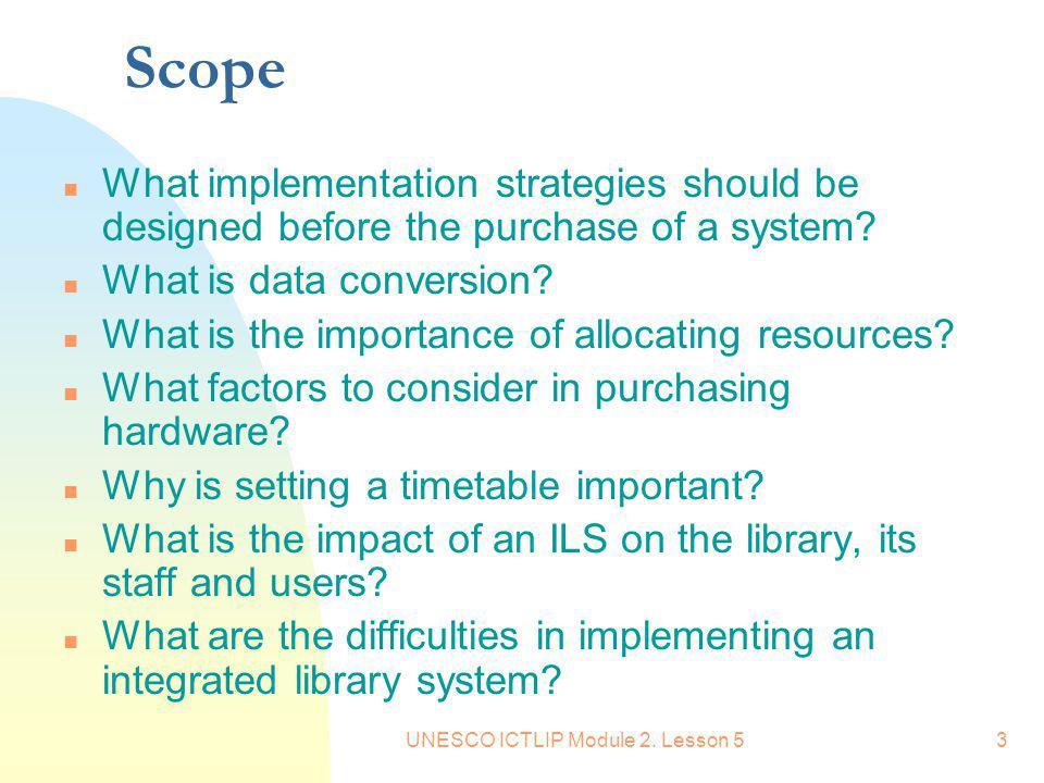 UNESCO ICTLIP Module 2. Lesson 5