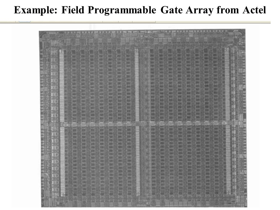 Example: Field Programmable Gate Array from Actel