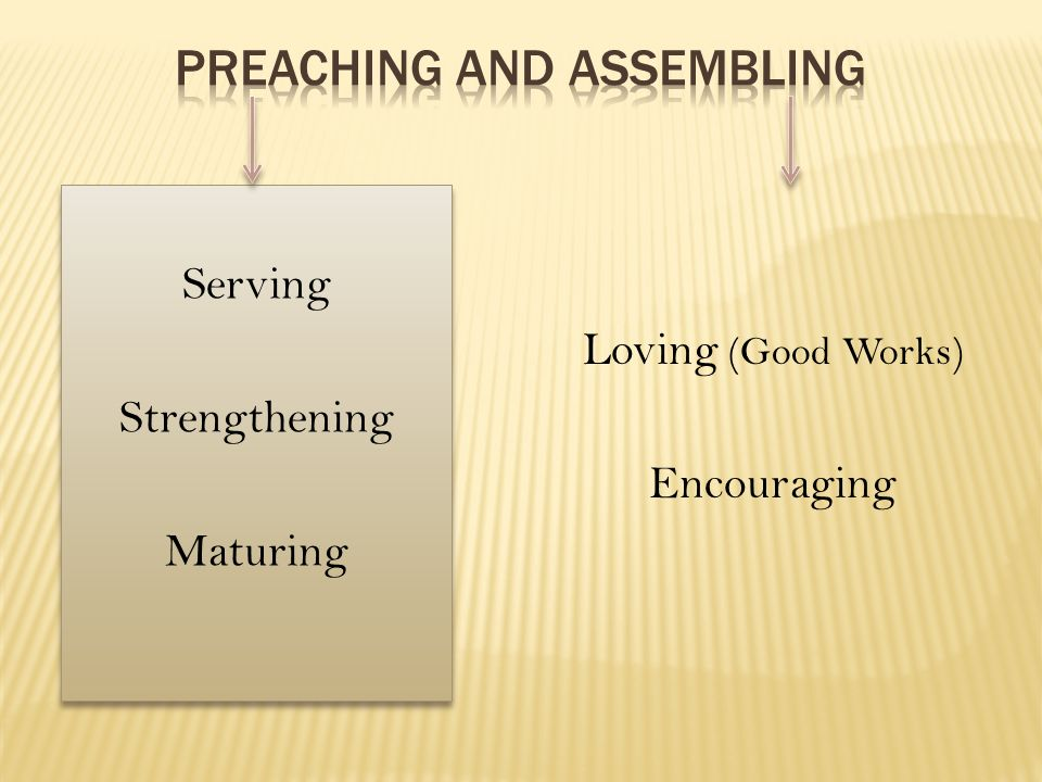 Preaching and assembling