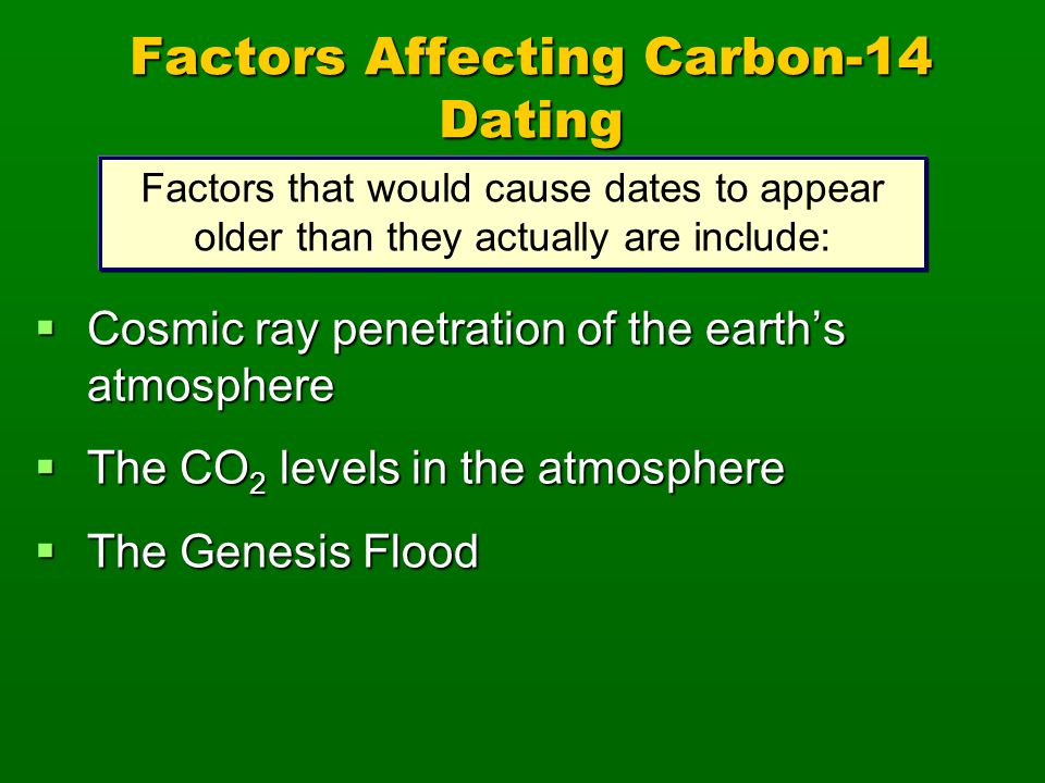 Factors Affecting Carbon-14 Dating