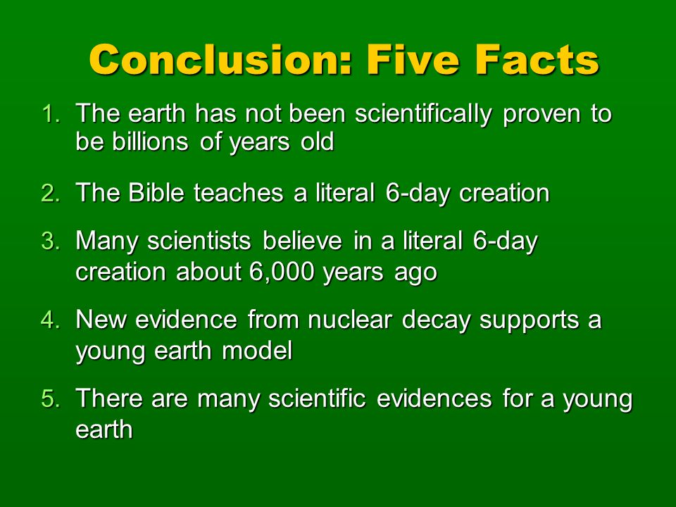 Conclusion: Five Facts