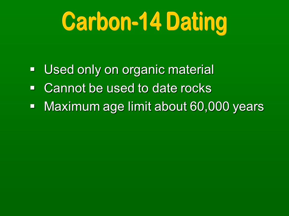 carbon 14 dating used