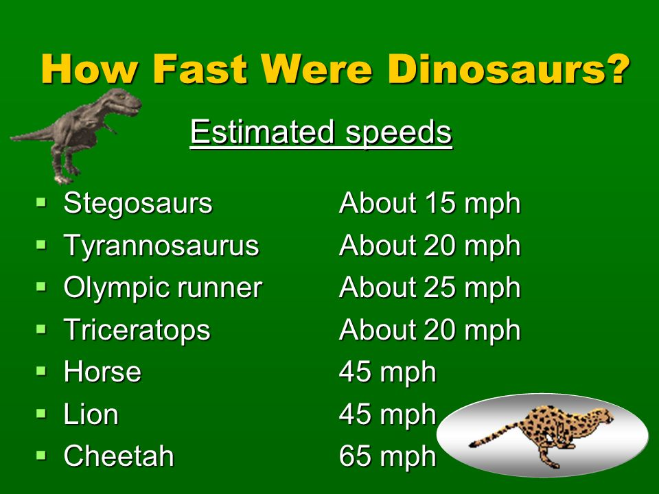 How Fast Were Dinosaurs