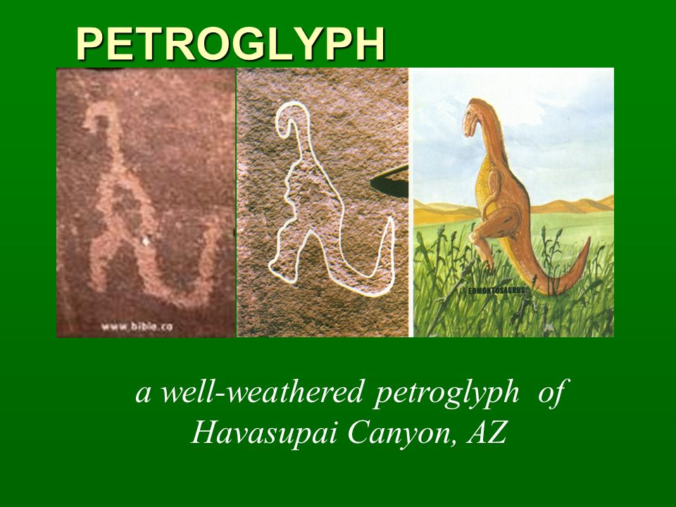 a well-weathered petroglyph of Havasupai Canyon, AZ
