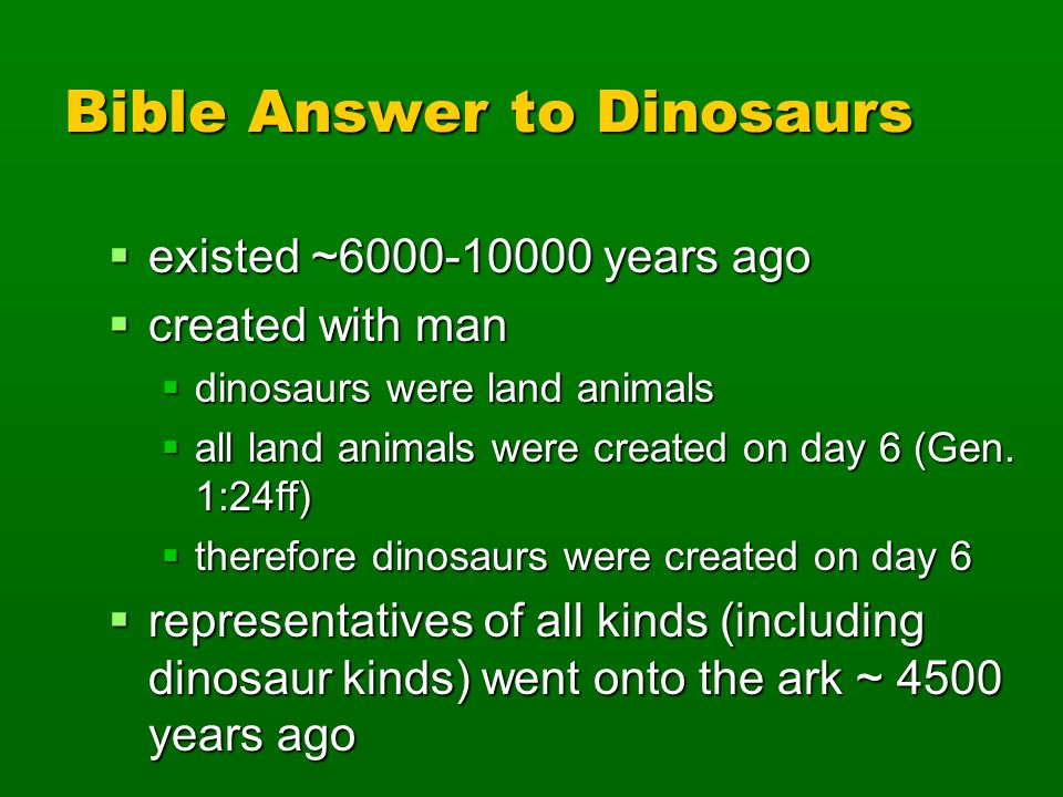 Bible Answer to Dinosaurs