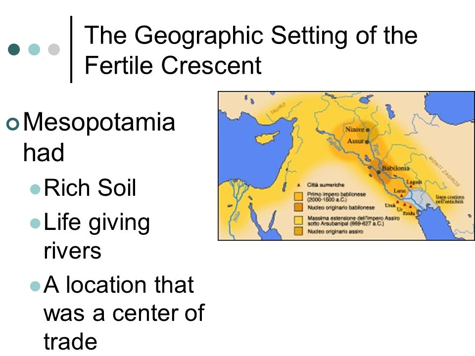 The Geographic Setting of the Fertile Crescent