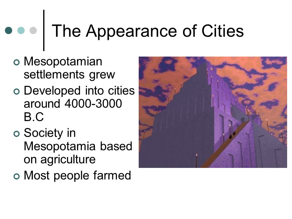 The Appearance of Cities